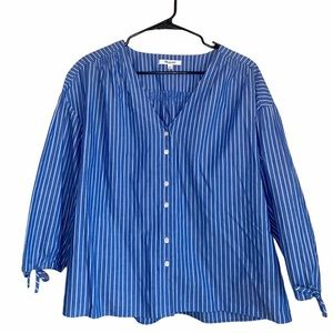 Madewell Nautical Morningview Blouse Striped Top